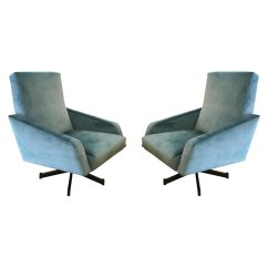 Swivel Lounge Chairs Lift Covered By Medicaid Pair Of Italian Mid Century Gaspare Asaro Modern Furniture And Lighting New York Ny