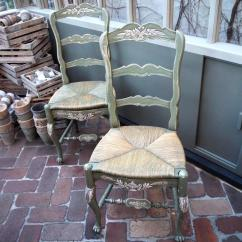 Rush Seat Chairs Chicago Bears Folding French Parterre