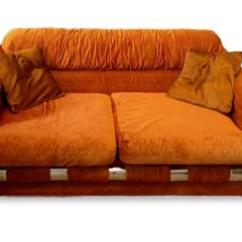 70s Sofa Off White Slipcovers Studio Furniture Forgotten Works Vintage 70 S Orange Velvet Couch