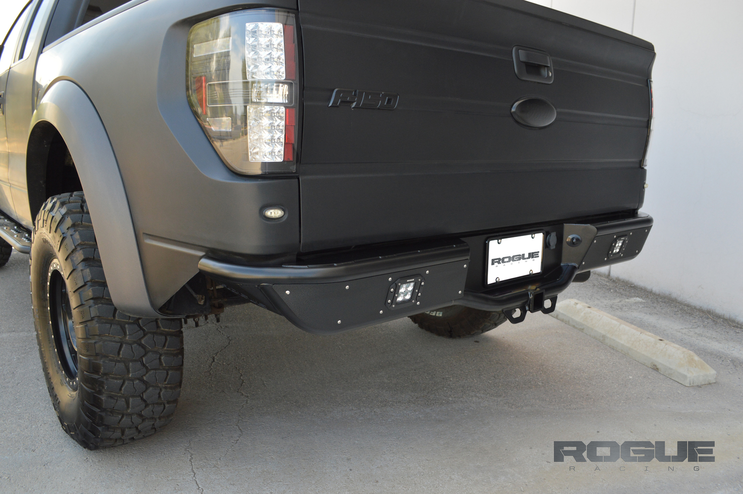 hight resolution of renegade rebel rear bumper 2009 2014 ford f150 raptor ecoboost rogue racing