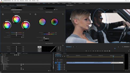Colorista IV running in Premiere Pro.