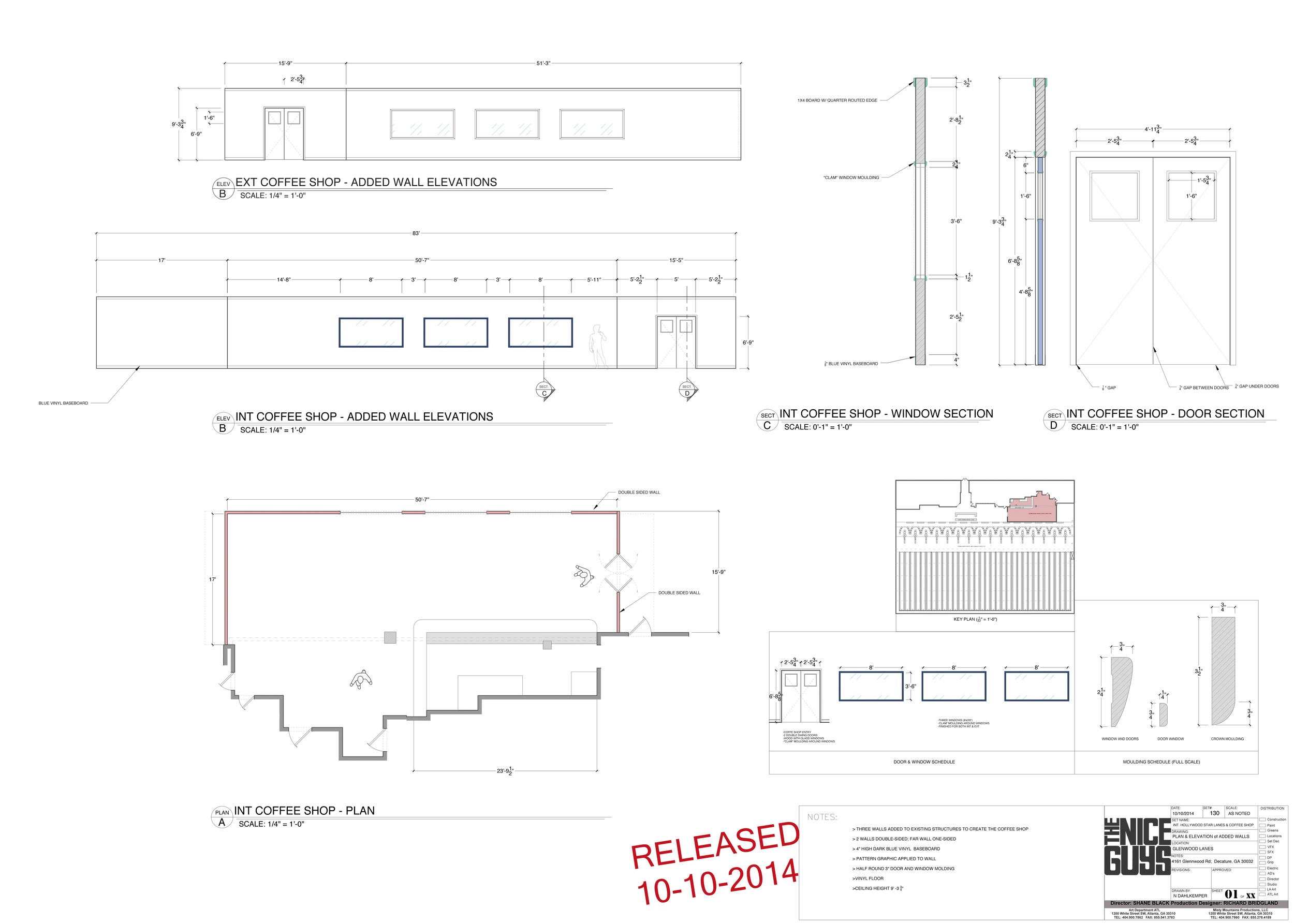 hight resolution of  the nice guys hollywood star lanes elevations