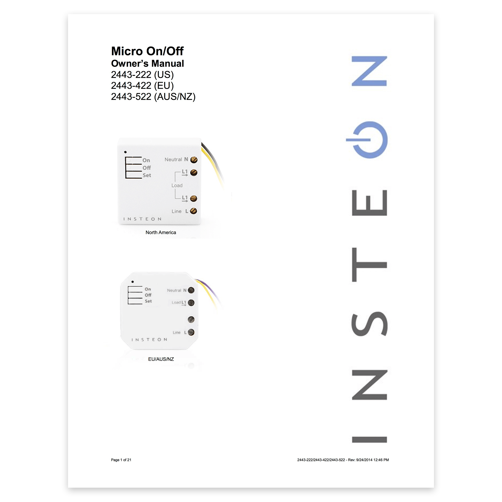 On/Off Micro Module — Insteon