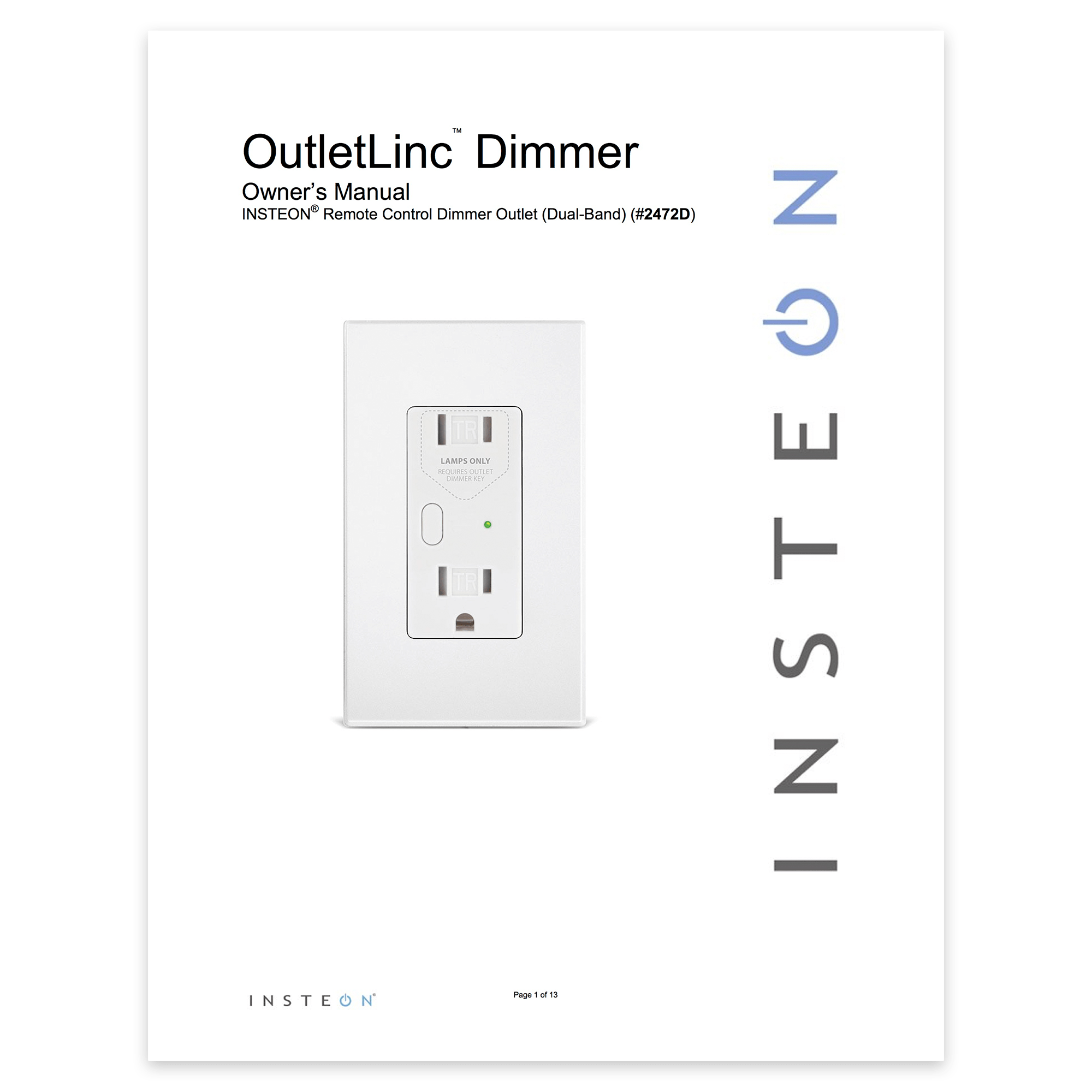 Dimmer Outlet Setup — Insteon