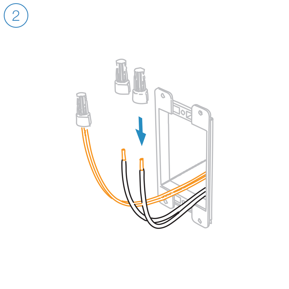 medium resolution of unfold all of the wires from within the junction box separate the black wires and cap them with wire nuts