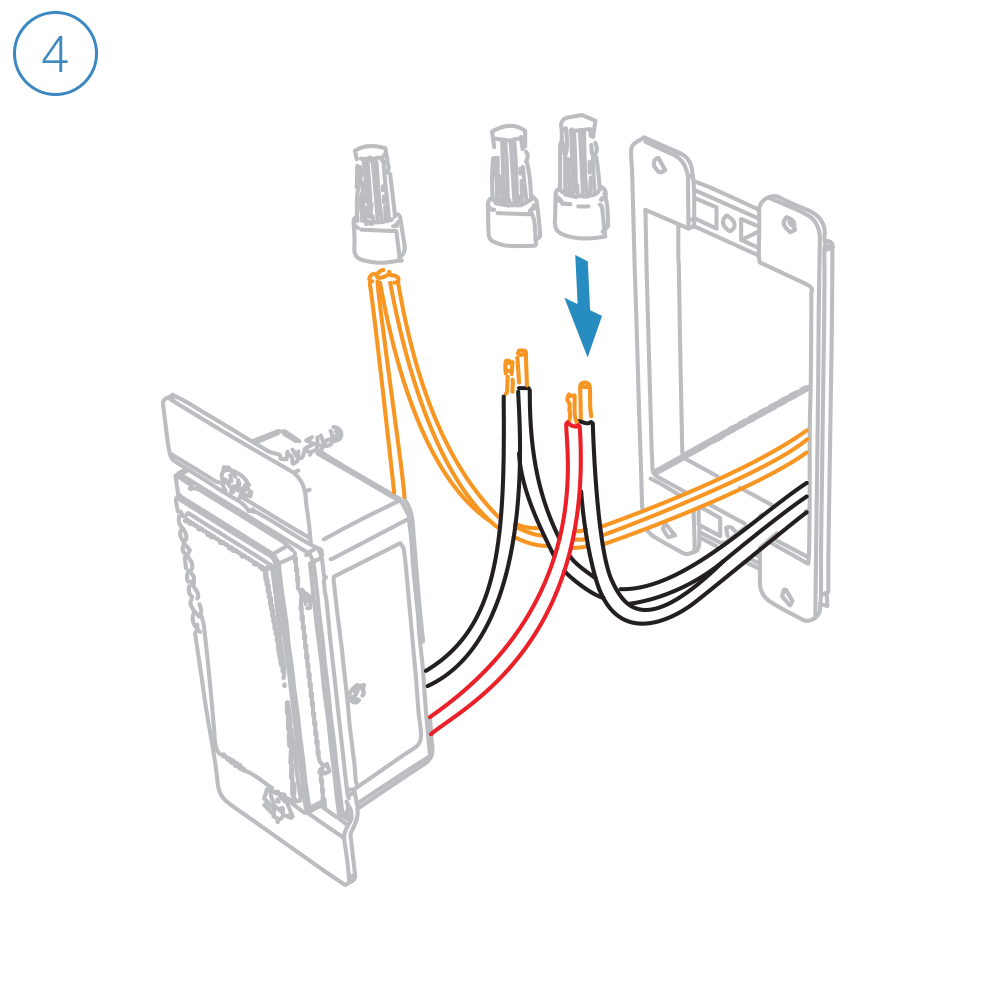hight resolution of turn off power and connect the corresponding wires from the junction box with the insteon wall switch an cap them with wire nuts