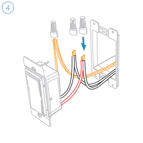small resolution of turn off power and connect the corresponding wires from the junction box with the insteon wall switch an cap them with wire nuts
