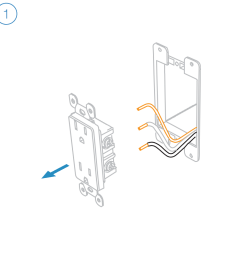turn off power at the service panel and remove the existing wall outlet  [ 1000 x 1000 Pixel ]