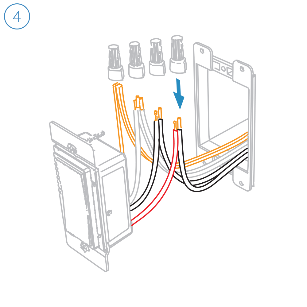 hight resolution of turn off power and connect the corresponding wires from the junction box with the insteon wall switch and cap them with wire nuts