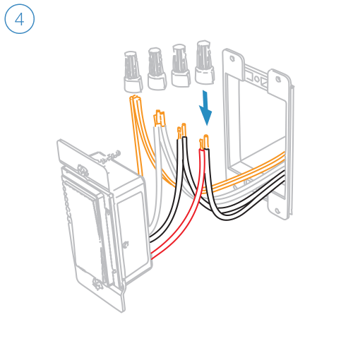 small resolution of turn off power and connect the corresponding wires from the junction box with the insteon wall switch and cap them with wire nuts