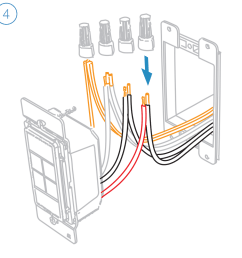 turn off power and connect the corresponding wires from the junction box with the insteon wall keypad and cap them with wire nuts  [ 1000 x 1000 Pixel ]