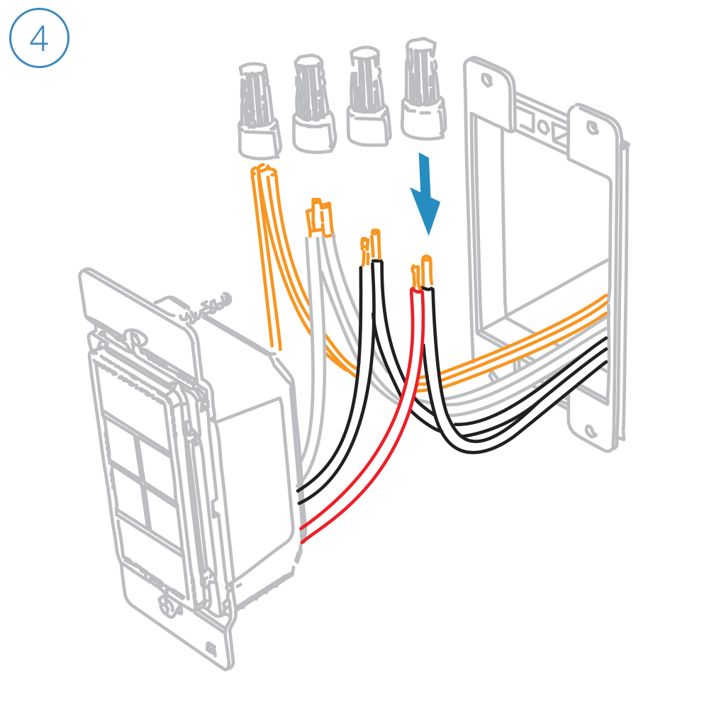 medium resolution of turn off power and connect the corresponding wires from the junction box with the insteon wall keypad and cap them with wire nuts