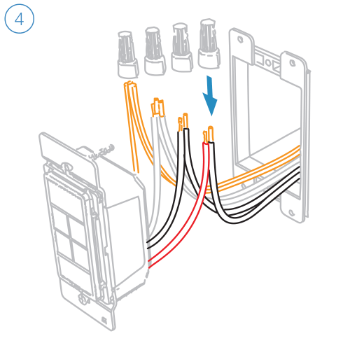 small resolution of turn off power and connect the corresponding wires from the junction box with the insteon wall keypad and cap them with wire nuts