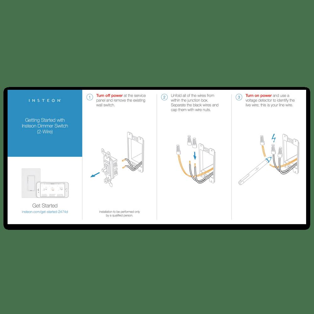 medium resolution of dimmer switch 2 wire quick start guide
