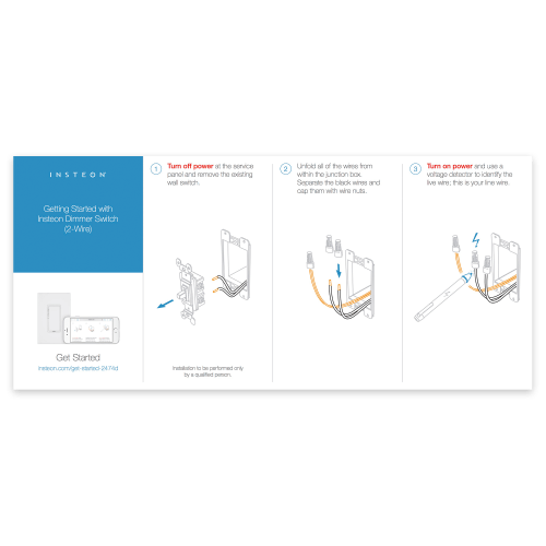 small resolution of dimmer switch 2 wire quick start guide