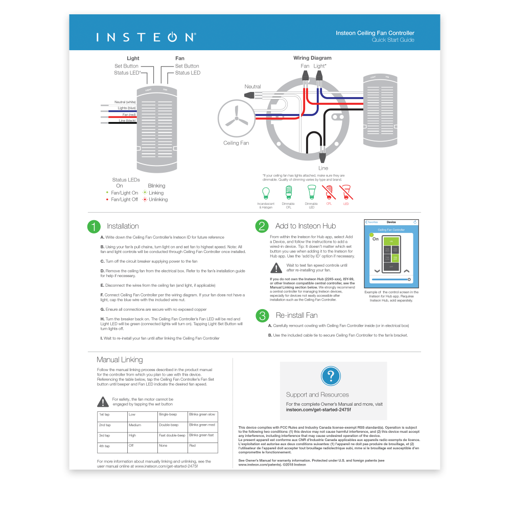 medium resolution of insteon fan controller quick start guide