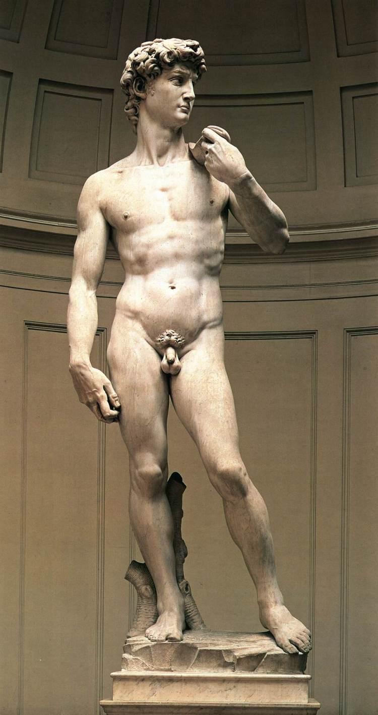 5metra há stytta af David eftir Michelangelo í Flórens, Uffizi