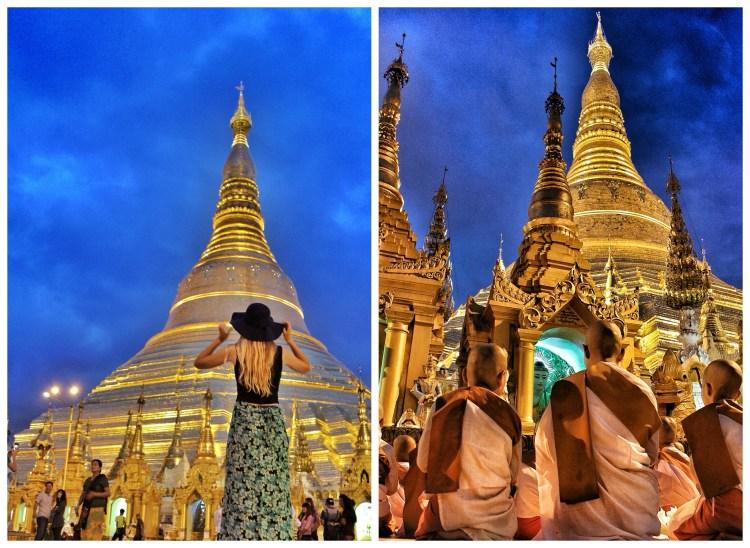 Hin mikilfenglega Shwedagon Pagoda, staðsett í hjarta Yangon
