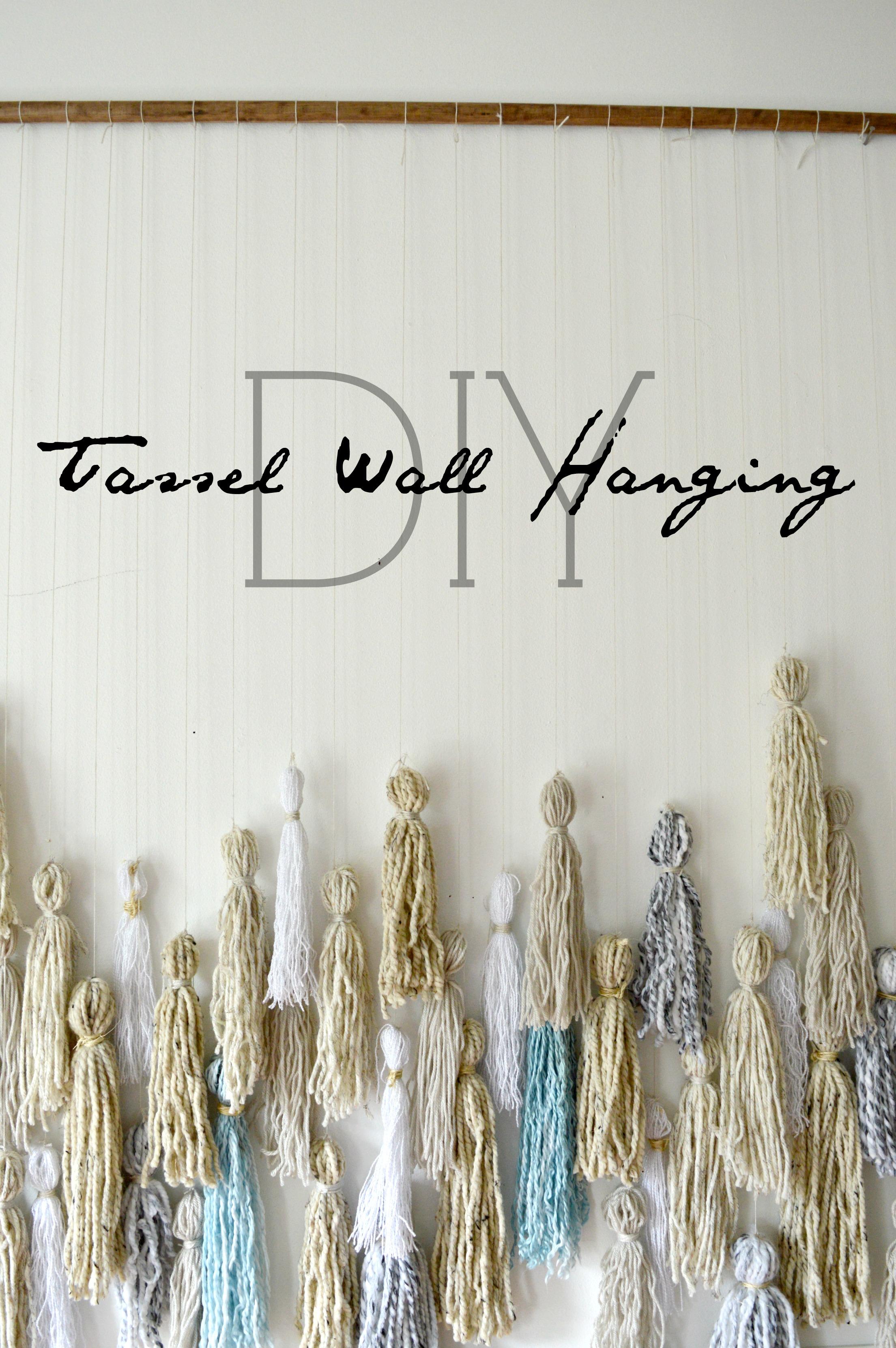 Diy Tassel Wall Hanging Stylemutt Home Your Home Decor