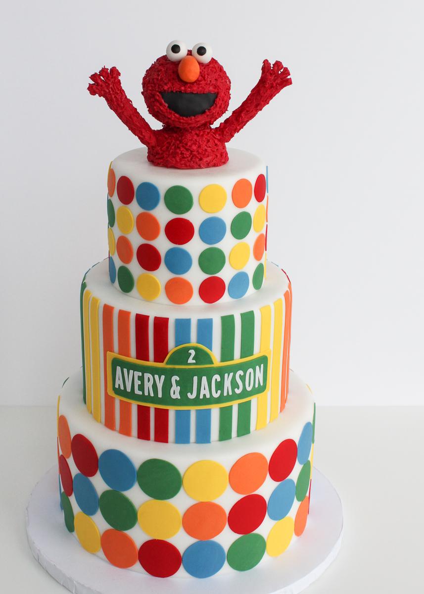 Elmo Sesame Street Cake Village Cakecraft