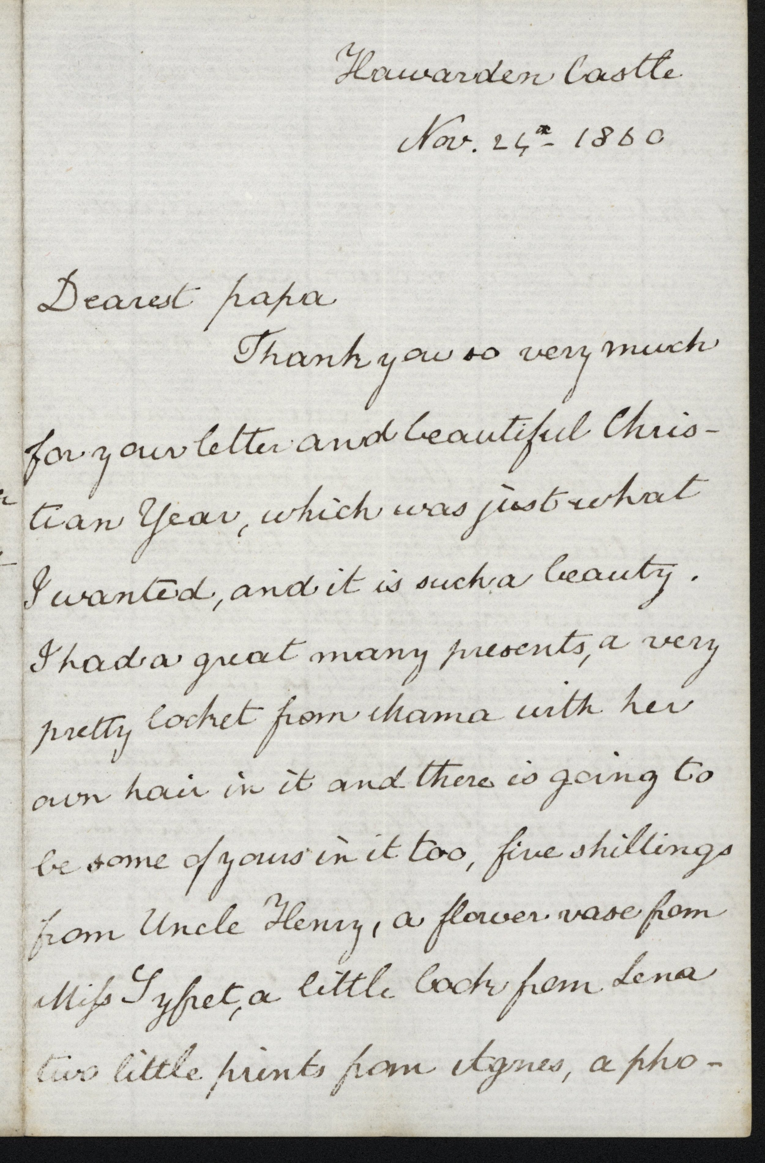 Victorian Thank You Letter — Phyllis Weliver