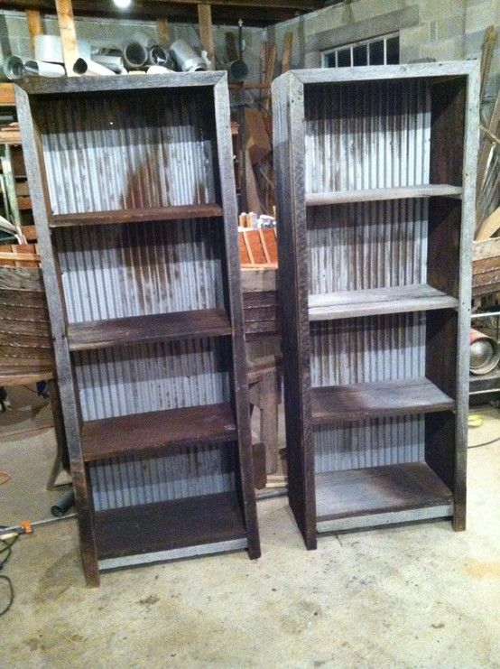 Corrugated Metal and Barn Wood Shelf Plans  Revival Woodworks