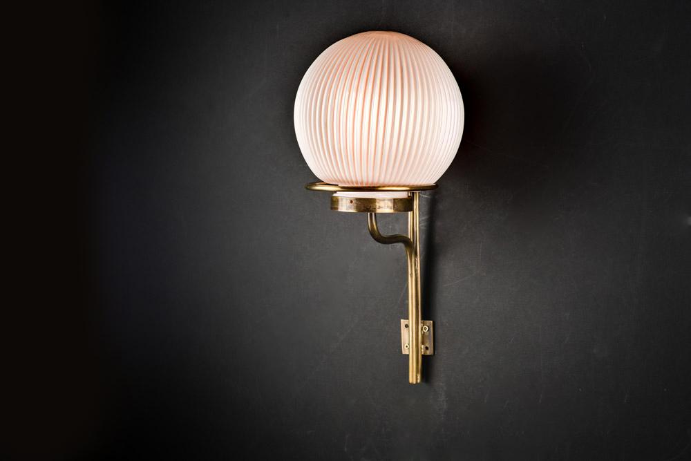 Bespoke Bone China and Brass Wall Light  Felix Lighting