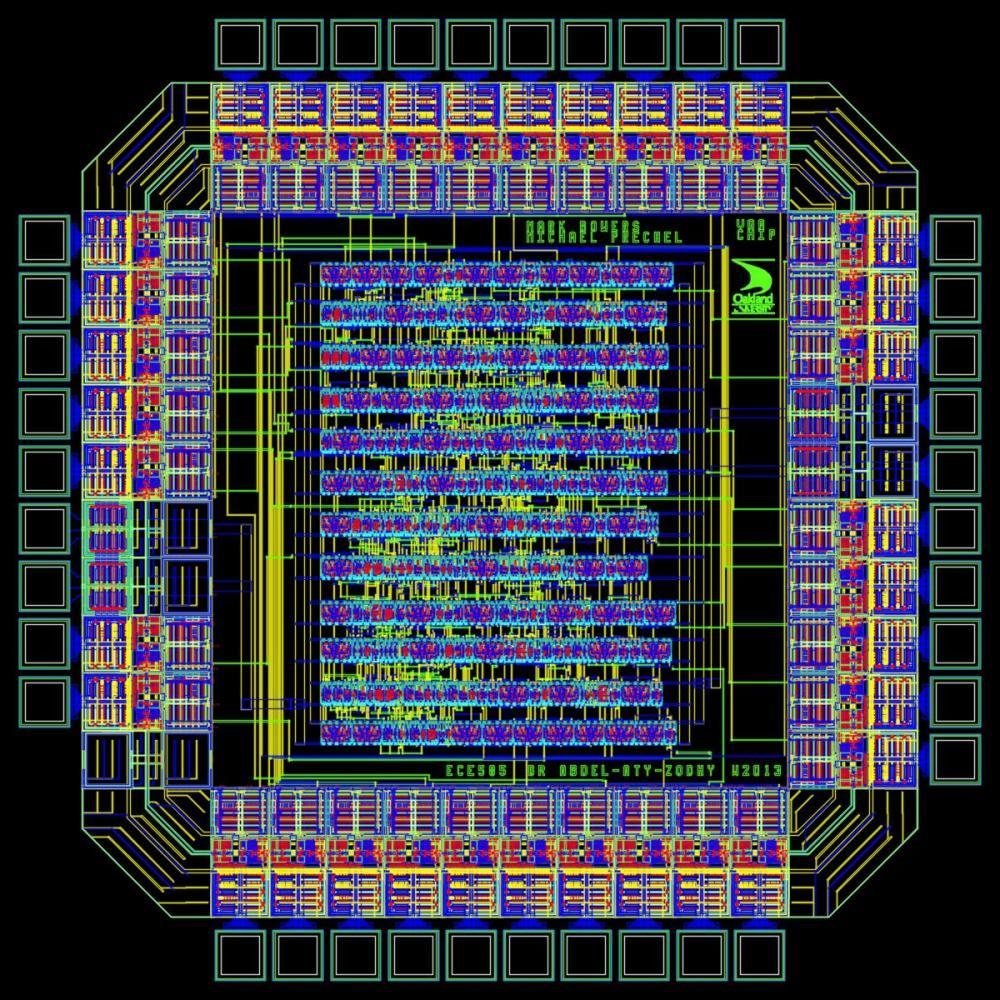 medium resolution of layout of the vga asic