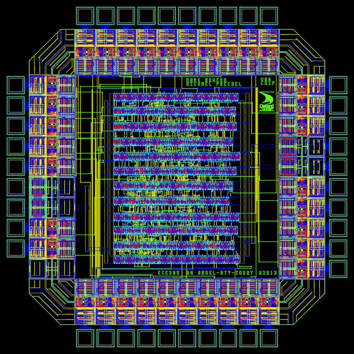 hight resolution of layout of the vga asic