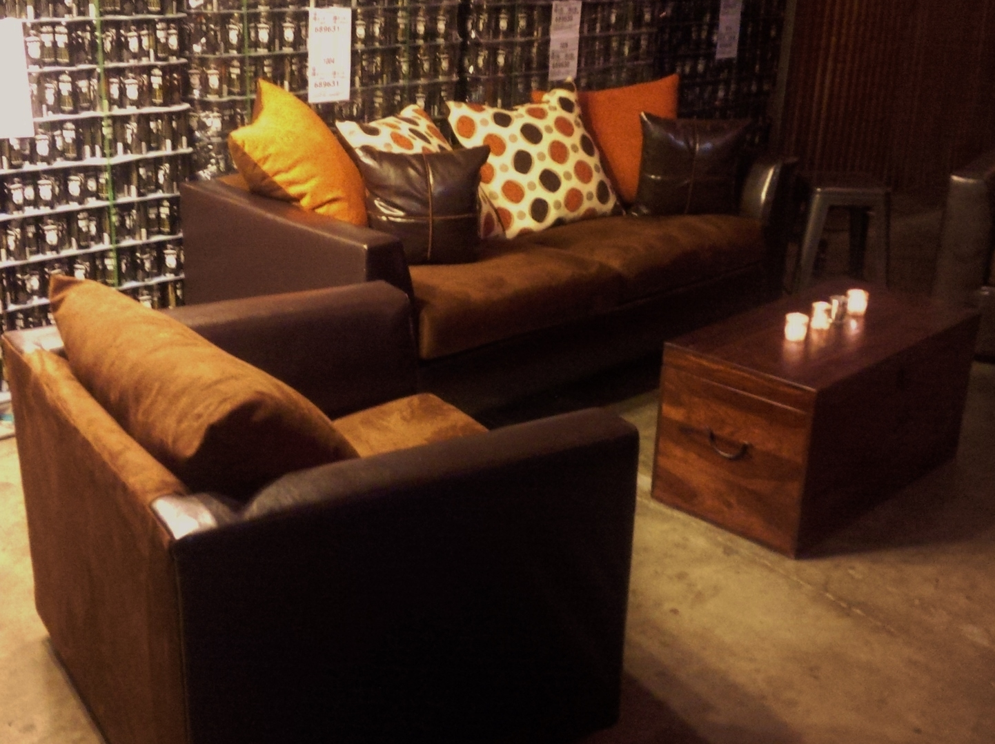 contemporary sofa with wood trim sleeper futon couch llc- lounge furniture rental for your event.couch llc