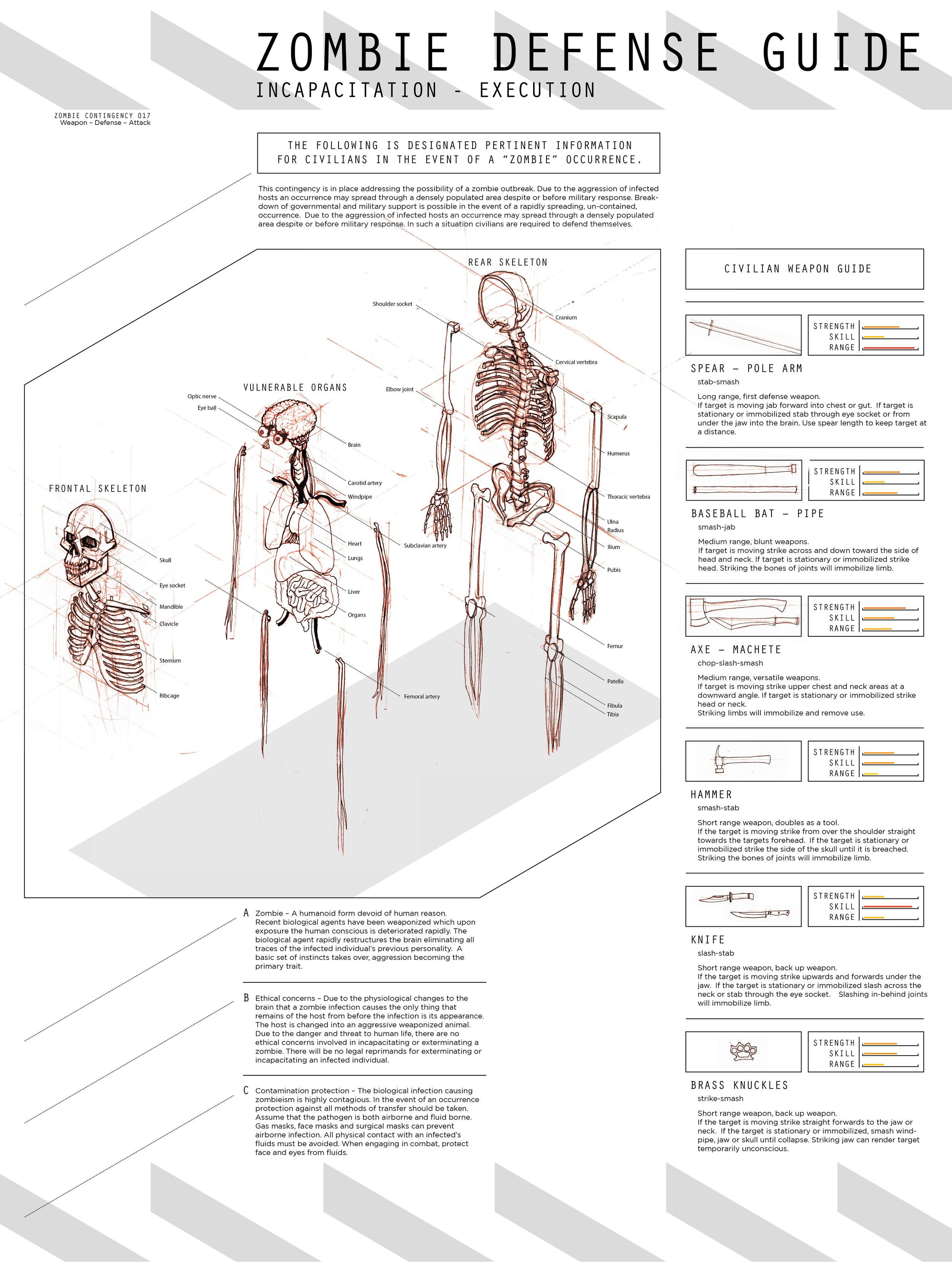 brass knuckles diagram australian 610 phone socket wiring zombie guide jon mctavish full poster