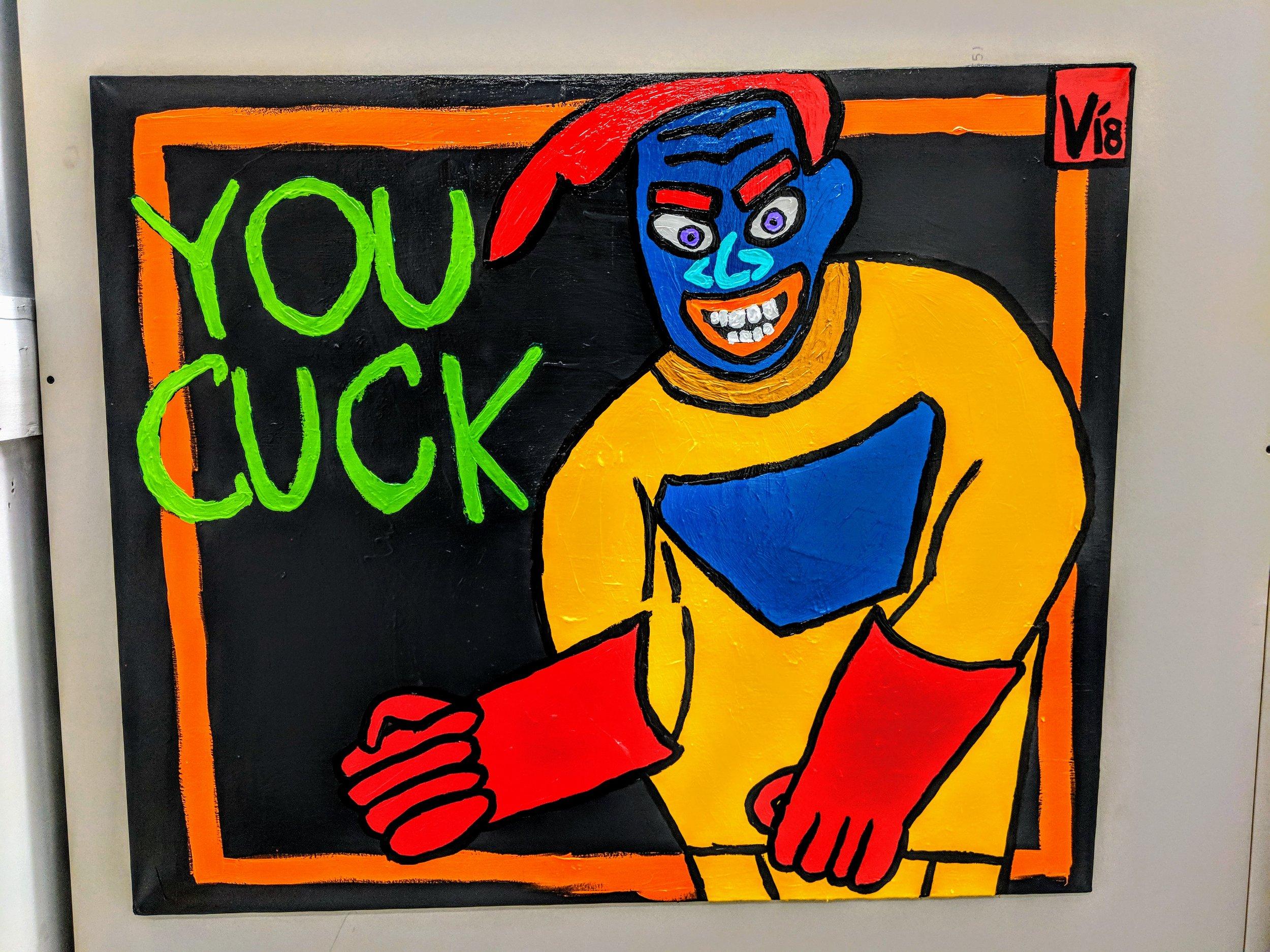 you cuck acrylic on