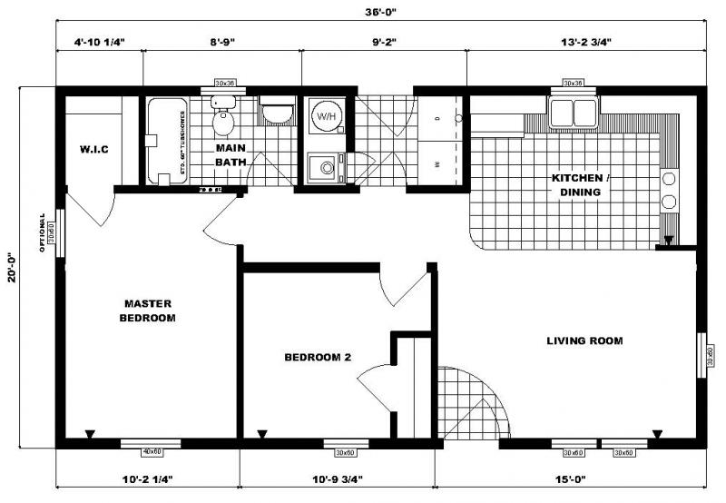 2 2 Bedroom Floor Plans Bath Modular