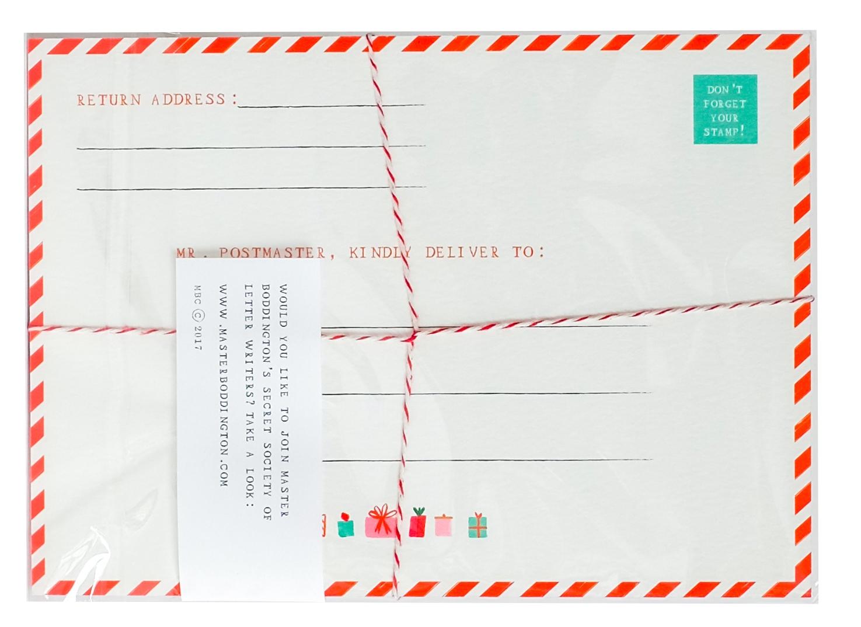 Holiday Thank You Postcards (set of six) — Mr. Boddington's Studio