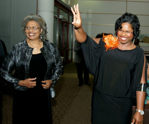 Dr. Bullock and her mother, Mrs. Ann Strickling