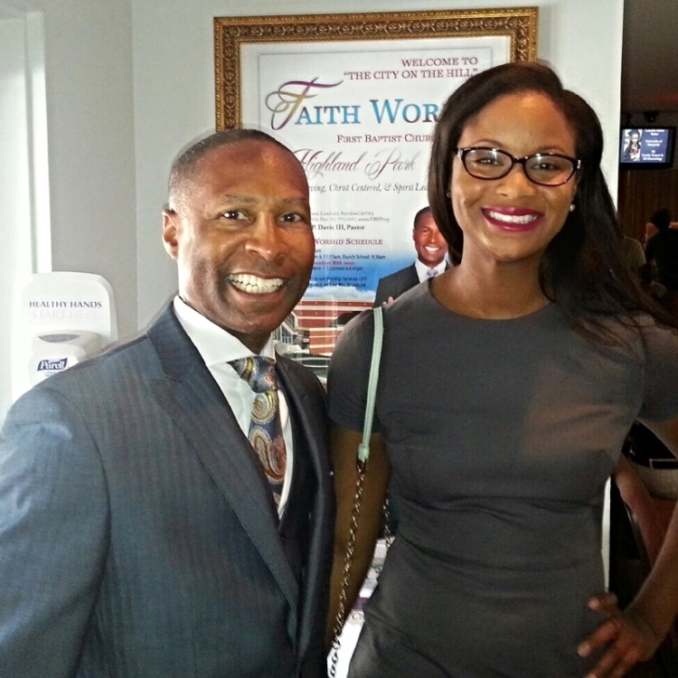 Pastor Henry P Davis and the speaker Melonie Wright