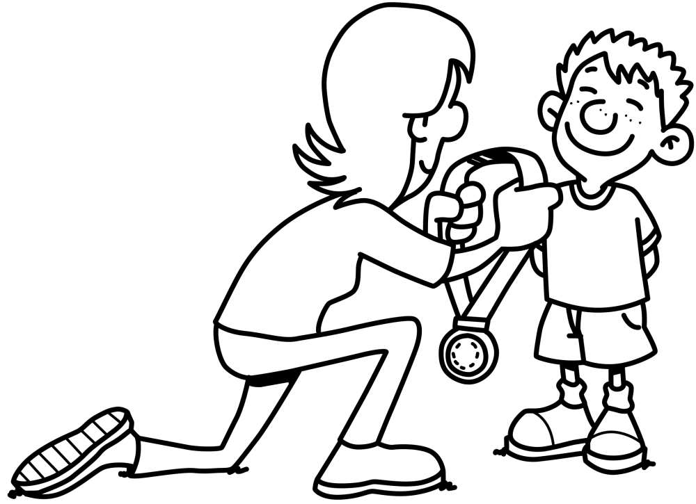 MedalChildAwardBoyPrizeWinnerSuccessFirst — Doodle Ads SVGs