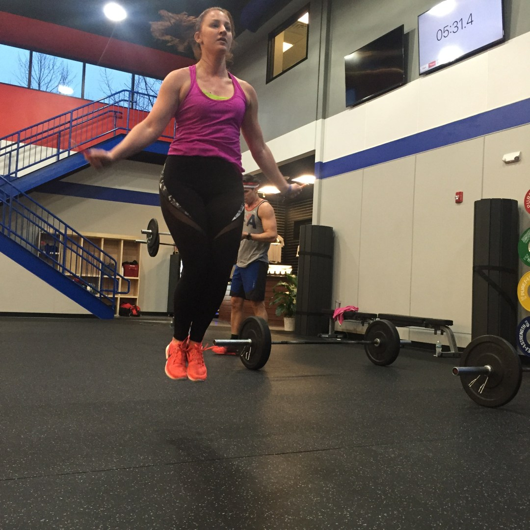 Lauren working on her levitation skills in the 630pm class.