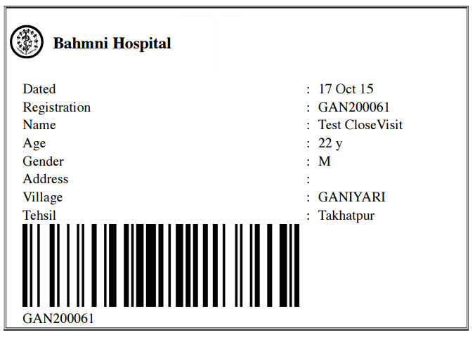 Screenshots of Bahmni — Bahmni™
