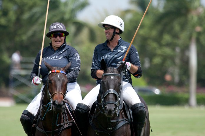 Flexjet teammates Melissa Ganzi and Gonzalito Pi.JPG