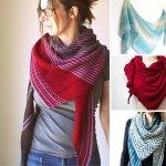 10 Asymmetrical Shawl Knitting Patterns Blog Nobleknits