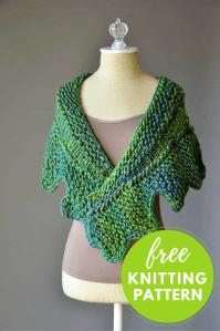 Cog Shawlette Free Knitting Pattern  Blog.NobleKnits