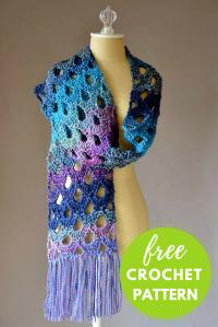 Zeppelin Scarf Free Crochet Pattern  Blog.NobleKnits