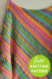 Gina Ridged Shawl Free Knitting Pattern  Blog.NobleKnits