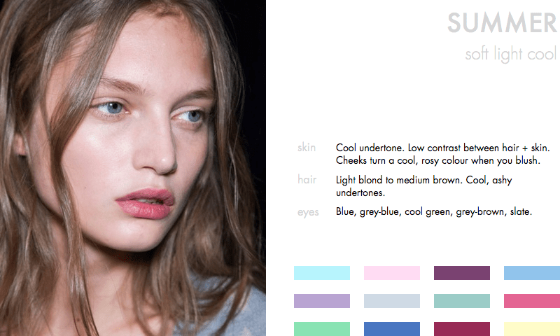 Colours for the Summer Type