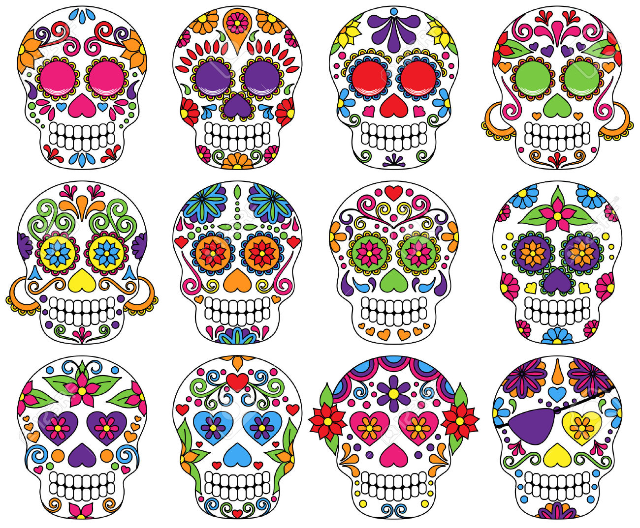 dia de los muertos sugar skull decorating with michele beach store cafe [ 1300 x 1074 Pixel ]