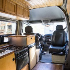 Sienna Sofa Sleeper Reclaimed Table The Ultimate Climber Van - My Diy Sprinter Conversion ...