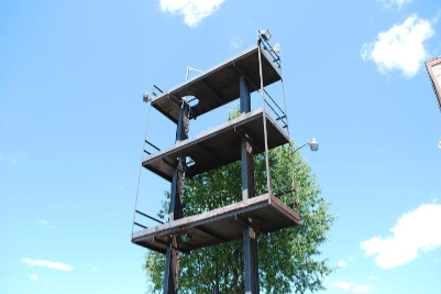 Remaining Speaker Towers at Greenwood Acres Campground. Photo:Brett Booth