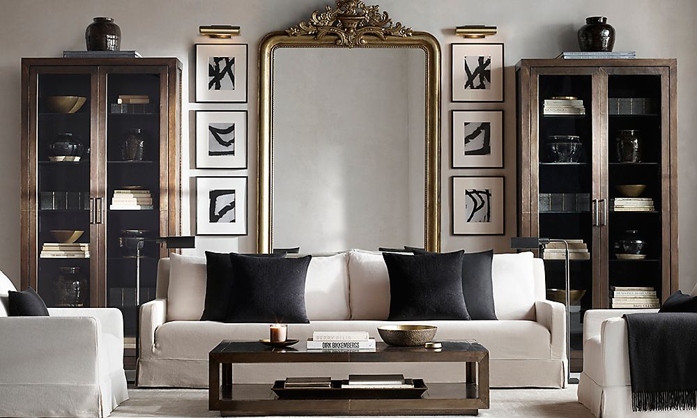 restoration hardware living room simple wall units indian designing with decorator girl via