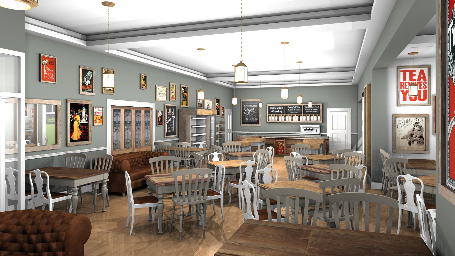 Tea Room & Coffee Shop Interior Café Interior Design
